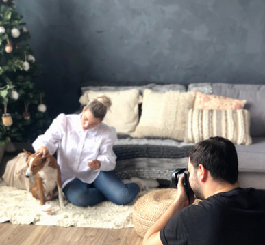Content creation for BTS holiday themed photoshoot.