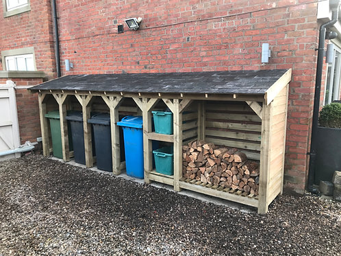 4 Bay Bin, Recycling and Log Store