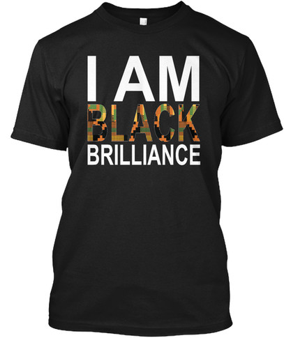 Kente Brilliance tshirt (black)