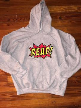 """""""READ"""" hoodie (grey)"""