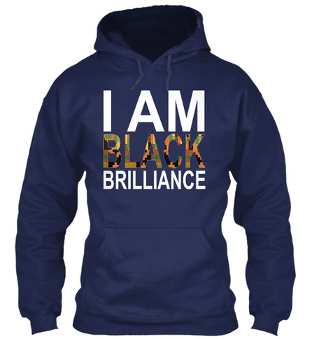 Kente Brilliance hoodie (navy)