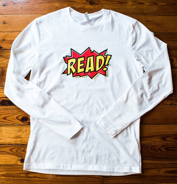 """""""READ"""" longsleeve (white)"""