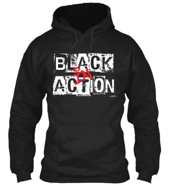 """Black In Action"" hoodie"