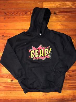 """""""READ"""" hoodie (black)"""