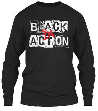 """Black In Action"" crewneck"