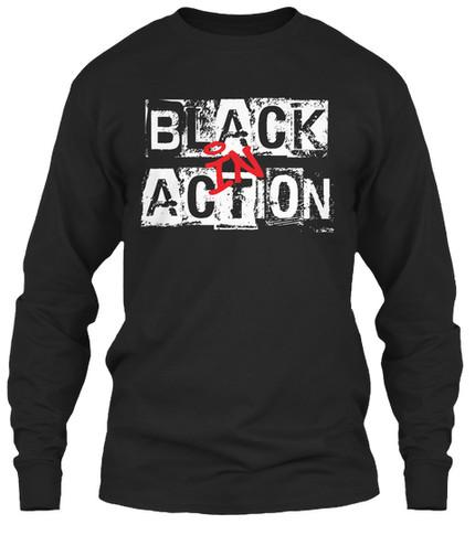 """""""Black In Action"""" crewneck"""