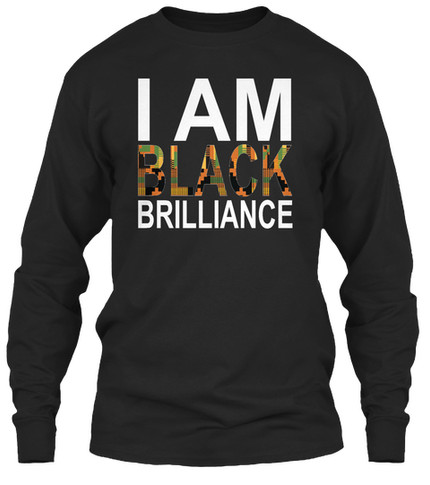 Kente Brilliance longsleeve (black)