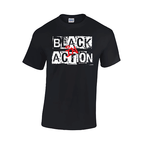 """""""Black In Action"""" T-shirt"""