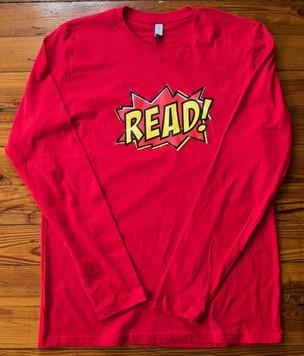 """""""READ"""" longsleeve (red)"""