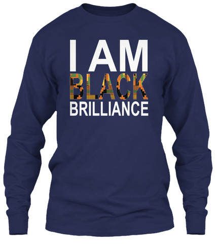 Kente Brilliance longsleeve (navy)