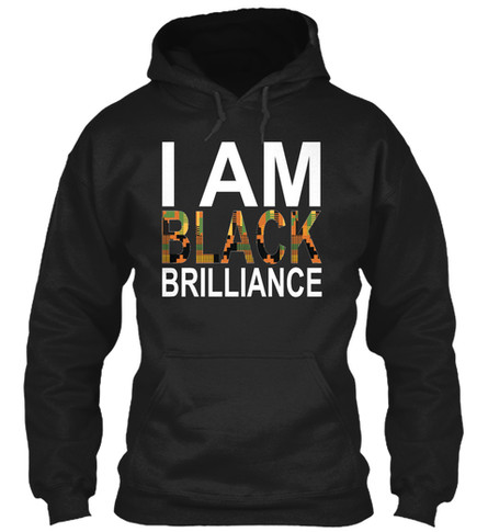 Kente Brilliance hoodie (black)