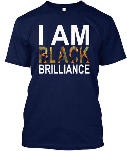 Kente Brilliance tshirt (navy)