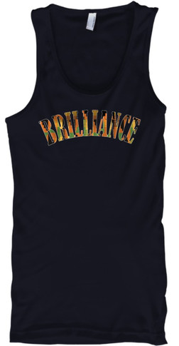 Kente Brilliance Tank (navy)