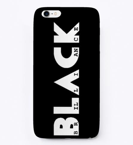 Signature phone case (black)