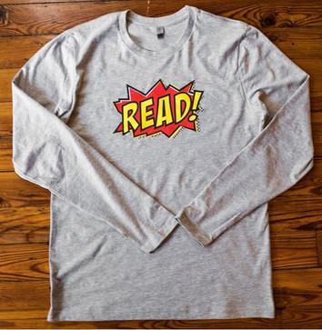 """""""READ"""" longsleeve (grey)"""