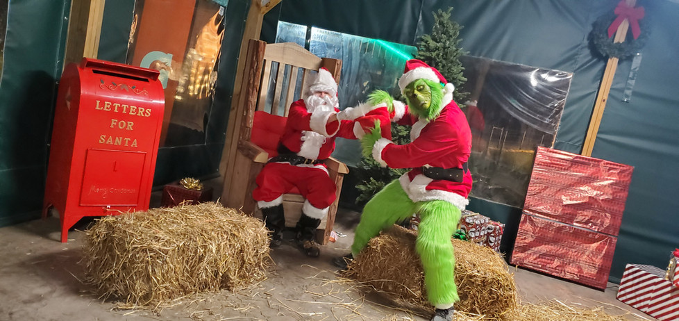 Santa meets the Grinch