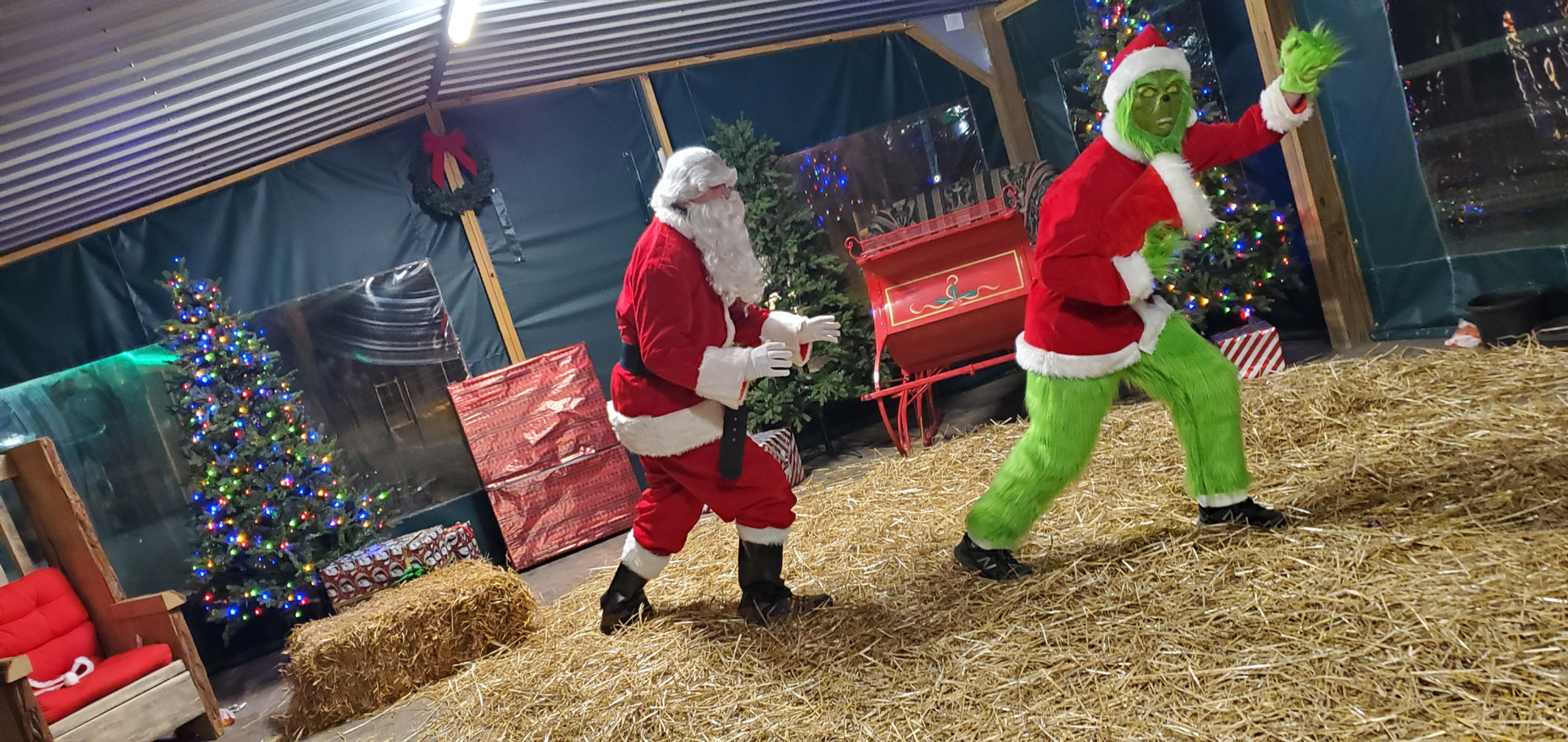 Santa chases the Grinch
