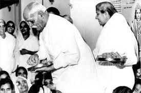 BapDada giving Toli after Murli