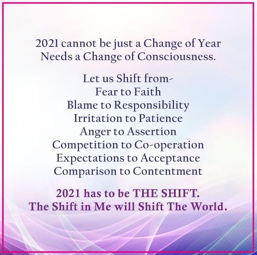 BK Shivani New year 2021 wishes