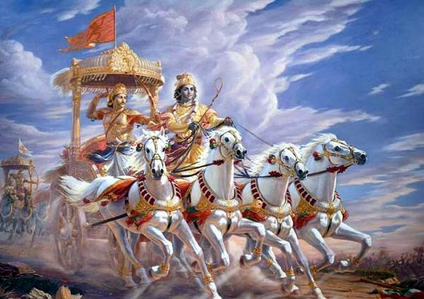 Krishna and Arjuna (arjun) of Gita
