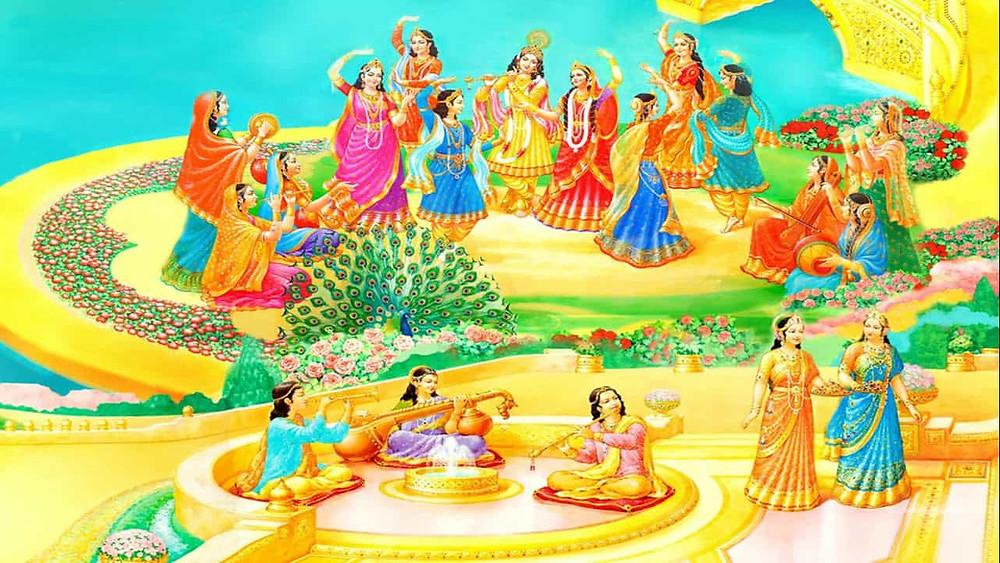 Life with Shri Krishna and Shri Radha