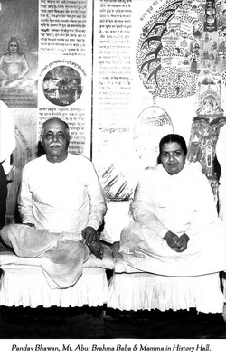 Brahma baba and Mamma in History Hall