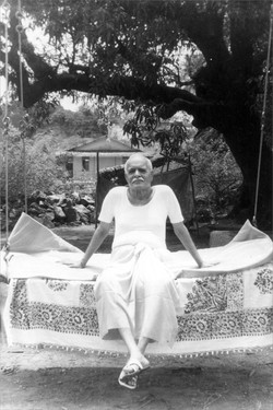 Brahma baba sitting in garden