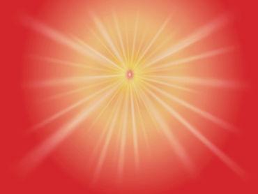 Shiv Baba red rays light image - GOD