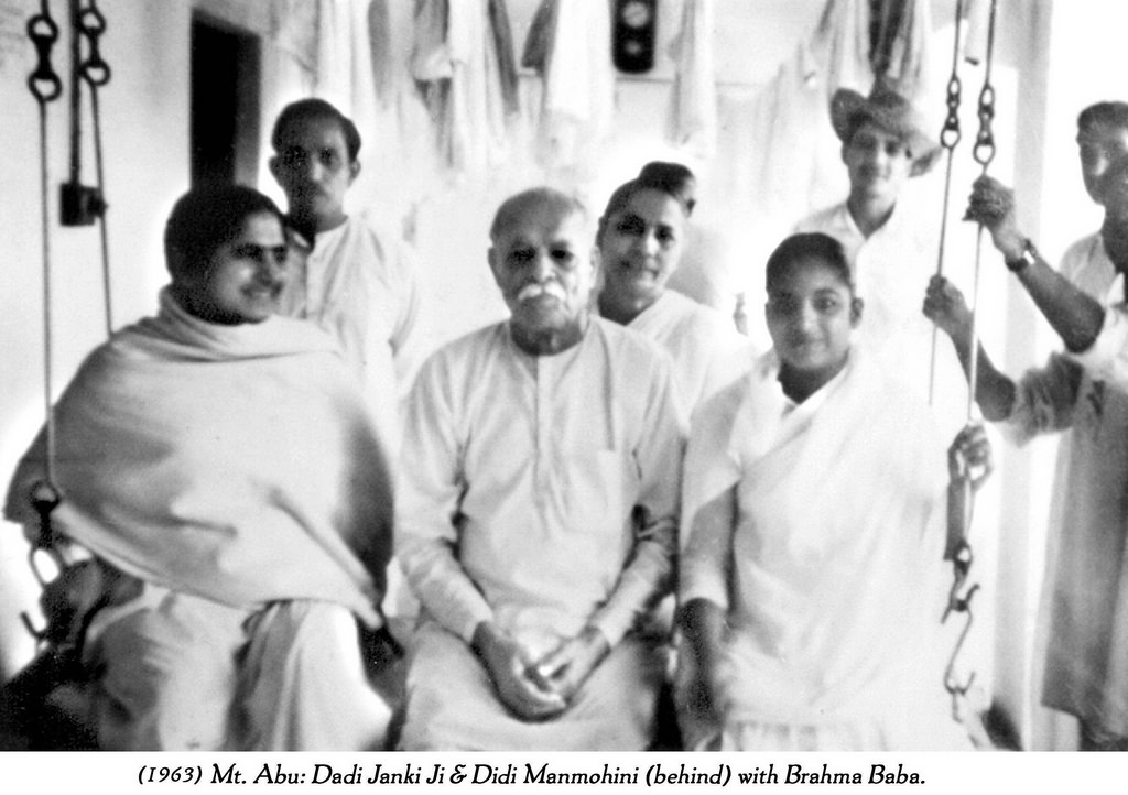 Baba, Dadi and others -Madhuban - BK