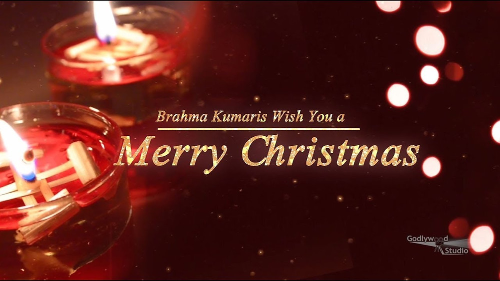 Christmas message poster: Brahma Kumaris