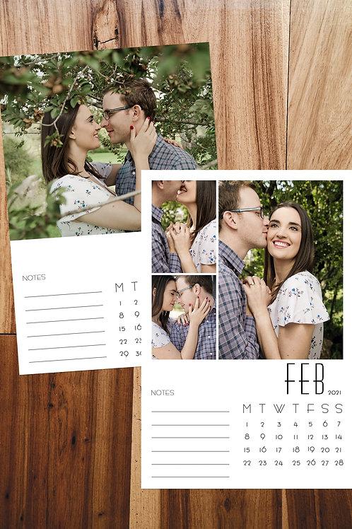 6 Page Custom Calendar