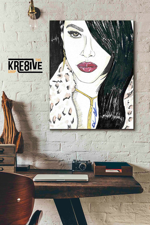 """Aaliyah """"Canvas Reprint"""""""
