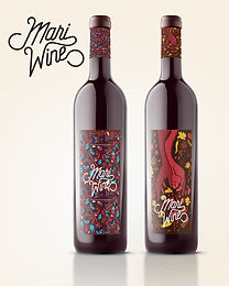 Mari Wine Logo & Label