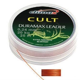 Шок-лидер Climax CULT Duramax Leader 0,18 mm 25 m красно-коричневый