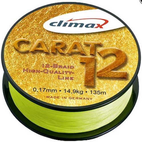 Шнур CLIMAX Carat 12 Braid fluo-yellow 135 m