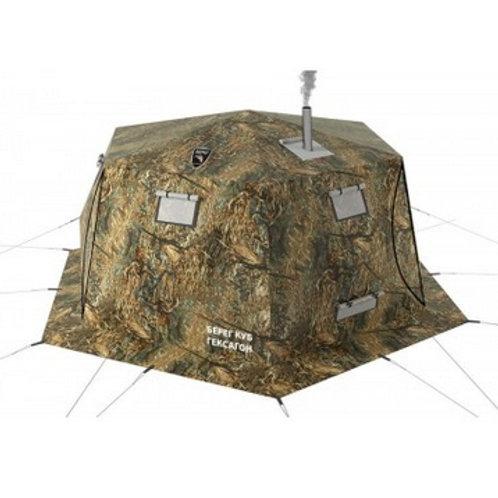 Палатка-шатер Куб Берег Гексагон двухслойная