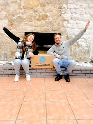 Clients satisfaits par leur déménagement LUXECO