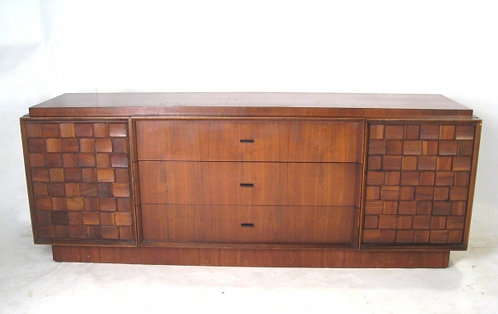 Retro Carved Wooden Credenza