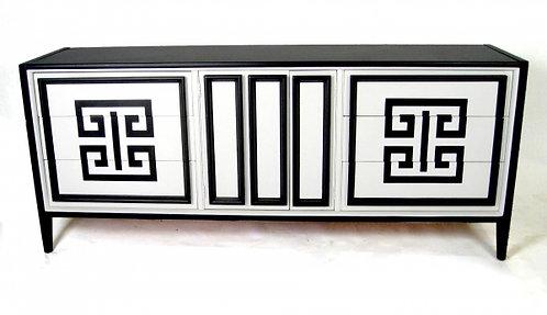 Stunning Black & White Greek Key Buffet