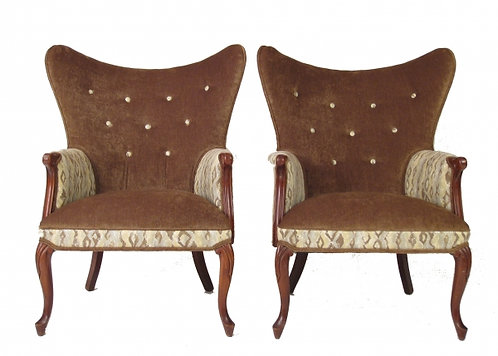 Pair of Cobra Wingback Chairs