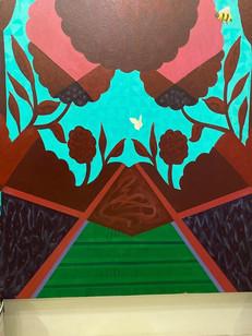 """Reflections of Paradise"" Mau Aniani o ka Lani (Hawaiian)Acrylic, 48""x60"" DETAIL"