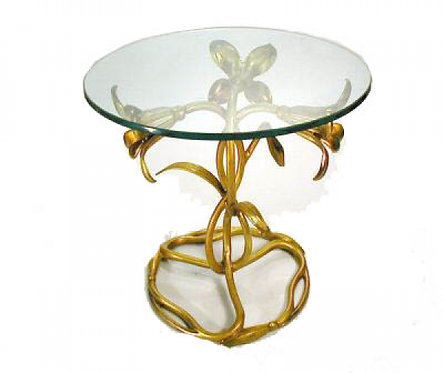 Italian Gilted Blossom Accent Table