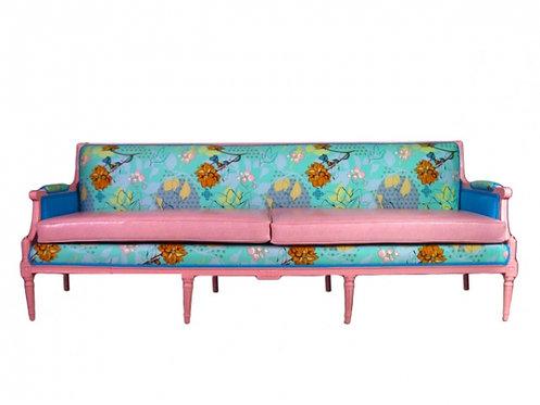 Long Pink Panther Snakeskin Sofa