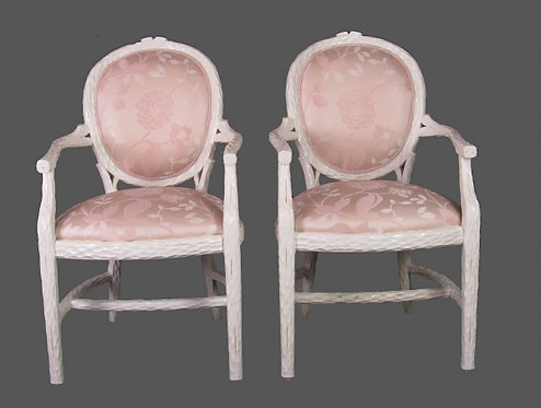 "Pair of Elegant ""Carved Branches"" Chairs"