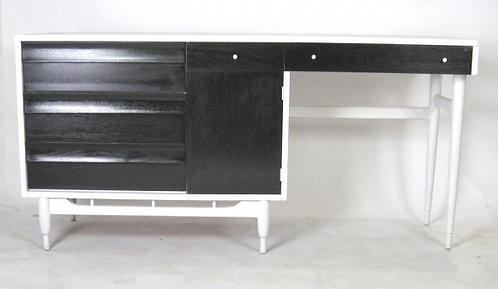 Sleek Black & White Desk