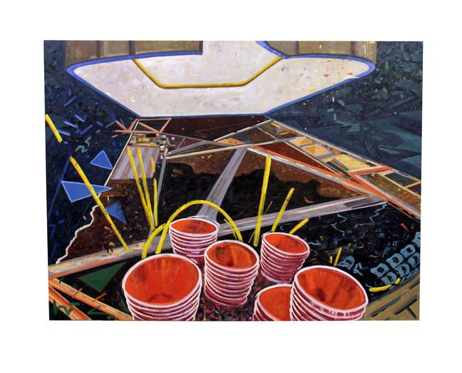 "The Return 2015, oil on canvas, 60""H x 80""W x 2""D"