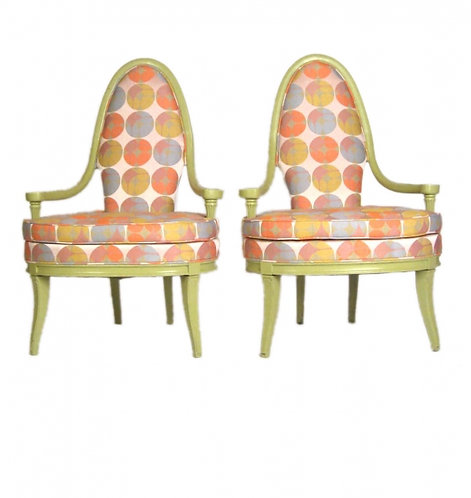 Pair of Retro Pop Lime Chairs
