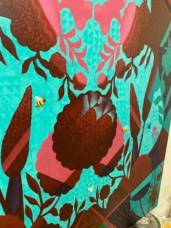 """Reflections of Paradise"" Mau Aniani o ka Lani (Hawaiian) 48""x60"" DETAIL"