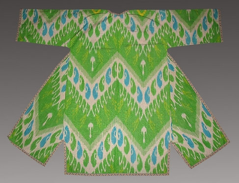 Lime Green Silk Suzani Robe