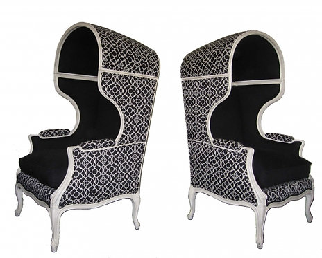 Pair of Porter Bonnet Top Chairs